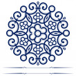 Round lace ornate background — Stockvektor