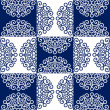图库矢量图片: Round lace ornate pattern