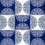 圆花边华丽图案 — 图库矢量图片