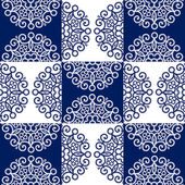 Round lace ornate pattern — Stock Vector