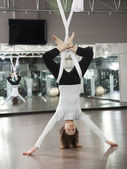 AntiGravity Yoga — Stock Photo