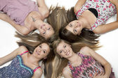 Four Teen Girls — Stock Photo