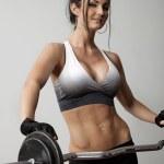 Female Weight Trainer — Stock Photo