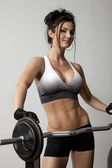 Female Weight Trainer — Stock Photo