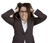Frustrated Businesswoman — Stock Photo