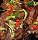 Grilled goat meat — Stock Photo