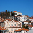 Ohrid lake and city — Stock Photo