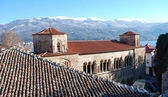 Church saint sophia in ohrid,macedonia — Stock Photo