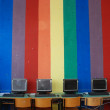 Colorfull Computer Room - Stock Photo