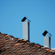 Stock Photo: Two chimneys