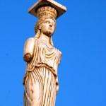 Caryatid in greece — Stock Photo