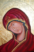 Virgin Mary ,ortodox frescoe — Stock Photo