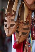 Shoes in a bazzar — Stockfoto