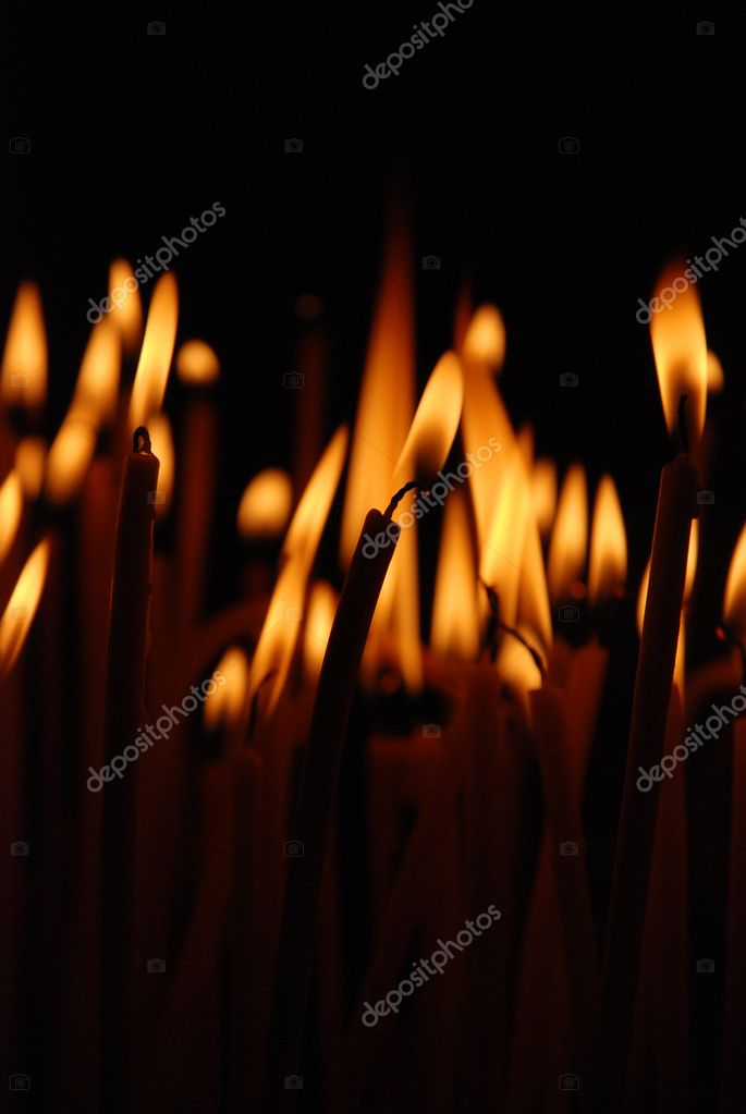 Flame of candles  Stock Photo #8801797
