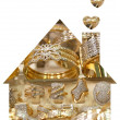 Golden house — Stock Photo