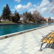 River drim, struga,ohrid,macedonia — Stock Photo