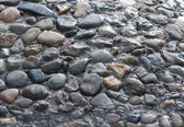 Grey macadam , stones — Stock Photo