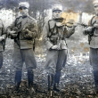 Soldiers misic band — Stock Photo