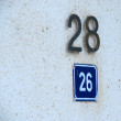 Door,street numbers — Stock Photo