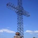 Ortodox cross in macedonia — Stock Photo