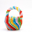 Stock Photo: Origami basket, details