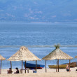 Beach on  lake prespa,macedonia — Stockfoto