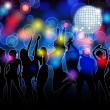 Royalty-Free Stock Vector Image: Colorful party silhouettes