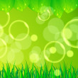 Beautiful green nature background — Stock Vector