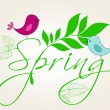 Royalty-Free Stock Obraz wektorowy: Cute spring birds illustration
