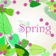 Cute spring background illustration — Stock Vector
