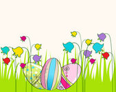 Cute Easter eggs illustration — Stock Vector