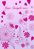 Mooie bloemen romantische achtergrond — Stockvector