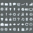 Royalty-Free Stock Vectorafbeeldingen: Set of transparent glass web buttons