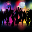 Crowd of party illustration — Stock Vector