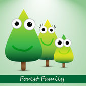 Cute forrest family — Stock Vector