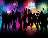 Kalabalık parti şekil — Stok Vektör