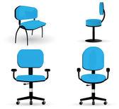 Ofis koltuğu illüstrasyonlar kümesi — Stok Vektör