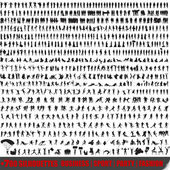 Set of 700 very detailed silhouettes — Vector de stock