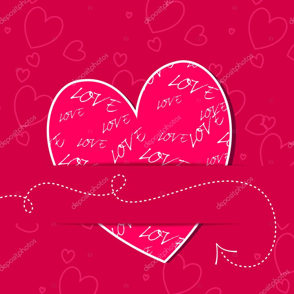 Vector illustration of elegant, stylish, romantic Valentine's Day card  Stock Vector #8427503