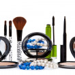 Various cosmetics isolated over white. Makeup products — Stock Photo