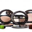 Stock Photo: Various cosmetics isolated over white. Makeup products