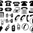 Stock Photo: Phone icons, signs, illustrations set. telephone icons collection.
