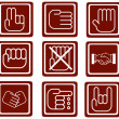 A set of hands icons  — Stock Photo #9383871
