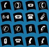 Telefoon pictogrammen, tekenen, illustraties set. telefoon pictogrammen collectie. — Stockfoto