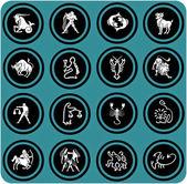 Zodiac icons. — Stock Photo