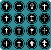 Christian crosses icons. — Stock Photo