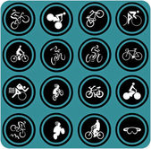 Bikes icons. — Stock Photo