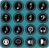 Various musical notes. simple music icons — Stock Photo