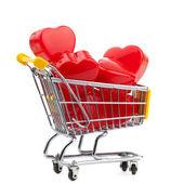 Closeup of a shopping cart heart — Stock Photo