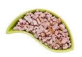 Saucisse de porc coupé en tranches fines — Photo